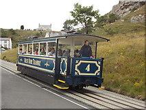 SH7782 : Llandudno: tram on Ty-Gwyn Road by Chris Downer