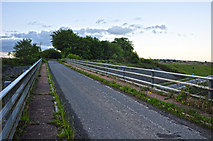 SS8521 : North Devon : Country Lane & Bridge by Lewis Clarke