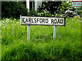 TM1074 : Earlsford Road sign by Adrian Cable