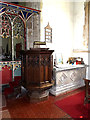 TM0974 : Pulpit of St.Mary the Virgin Church by Adrian Cable