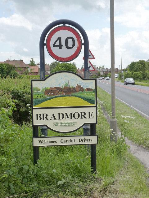 Bradmore village entrance sign