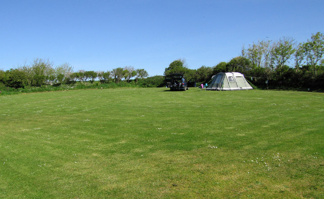 The Polruan campsite