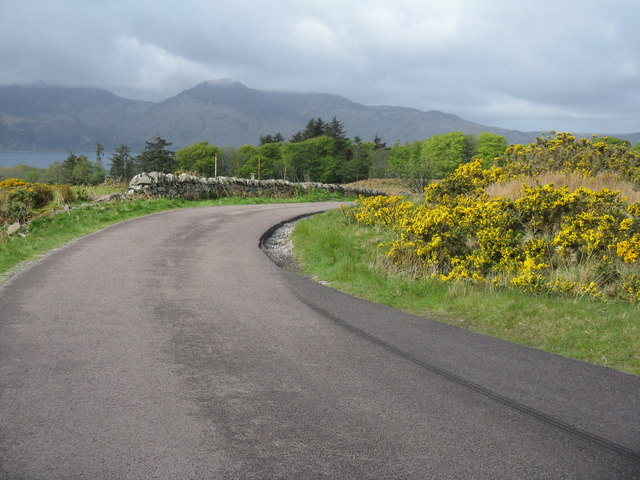 Bend in the A846 on Jura