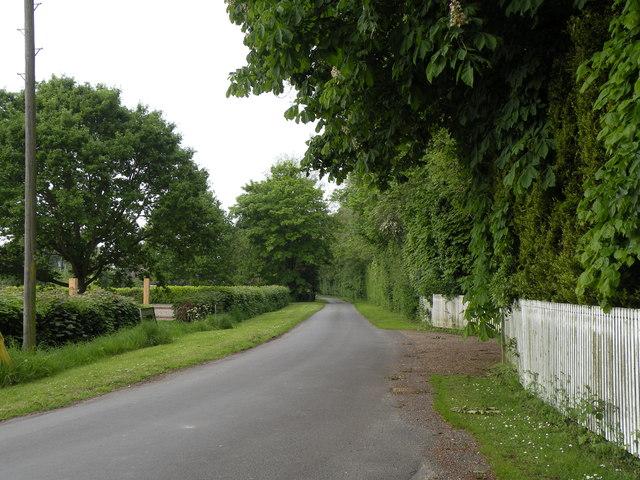 Church Lane, heading towards Fundenhall parish church