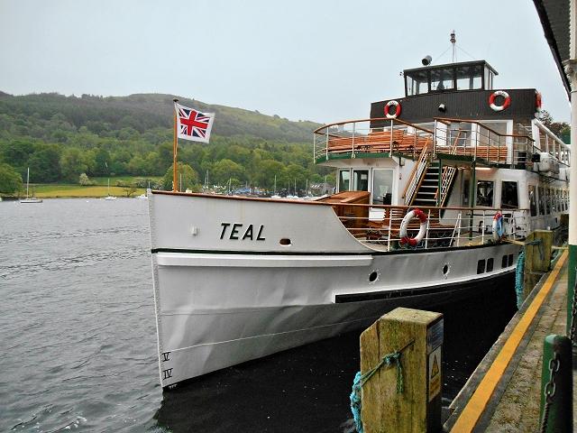 MV Teal Moored at Lakeside Pier