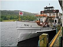 SD3787 : MV Teal Moored at Lakeside Pier by David Dixon