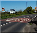 ST4069 : Start of the 30 zone on the southern approach to Clevedon by Jaggery
