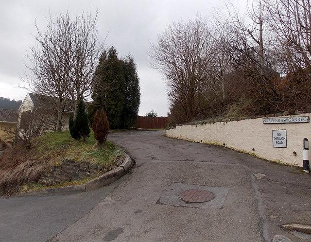 No through road, Penrhiwgarreg, Abertillery