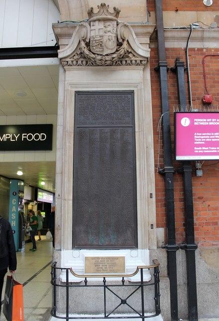 Victoria Station war memorial, London
