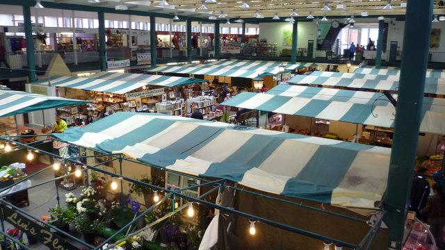 Part of the indoor market in Shrewsbury