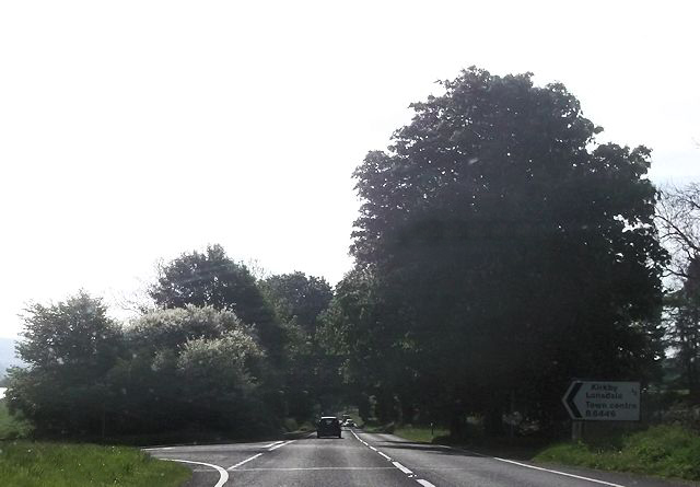 B6446 junction from A65