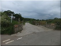 SX6596 : Road junction at Hayrish, west of Taw Green by David Smith