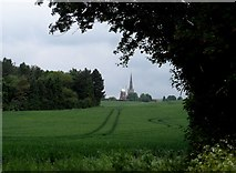 TL6030 : Thaxted windmill seen through wheat field by Bikeboy
