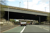SP0990 : Lichfield Road under the M6 by Steve Daniels
