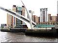 NZ2563 : Gateshead Millennium Bridge tilts open by Andrew Curtis