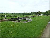 SP7256 : Lock 6, Grand Junction Canal - Northampton Arm by Mr Biz