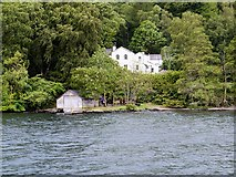SD3898 : Windermere West Shore, Belle Grange and Boathouse by David Dixon