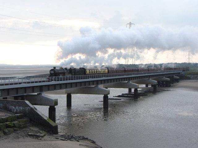 Railtour on the Loughor Viaduct