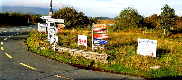 County Galway - Intersection of R336 & N59 at Maam Cross