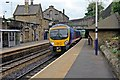 SD9702 : First TransPennine Class 185, 185150, Mossley railway station by El Pollock