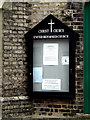 TL8741 : Christ Church United Reformed Church Notice Board by Adrian Cable