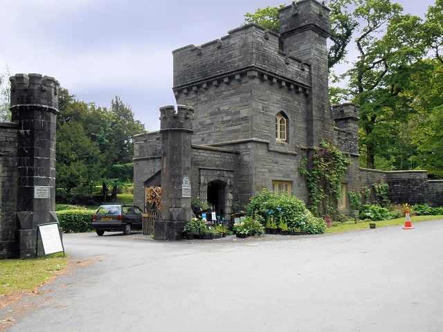 Lodge and gateway to Wray Castle