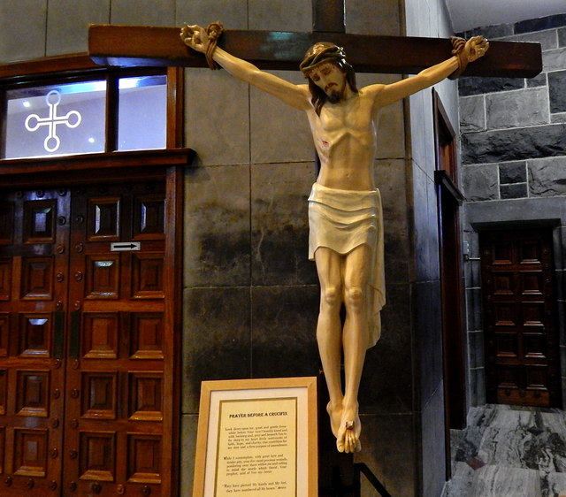 Galway City - Galway Cathedral Interior - Crucifixion  of Jesus in 1 of 2 Chapels