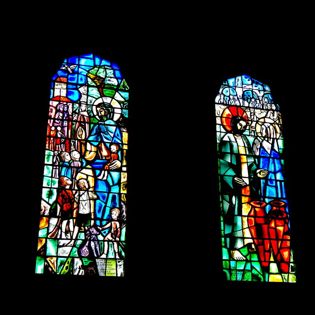 Galway City - Galway Cathedral Interior - Stained Glass Windows