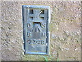 NZ1031 : Ordnance Survey Flush Bracket 2249 by Peter Wood