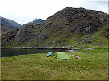 NG4819 : Camping beside Loch na Cuilce by John Lucas