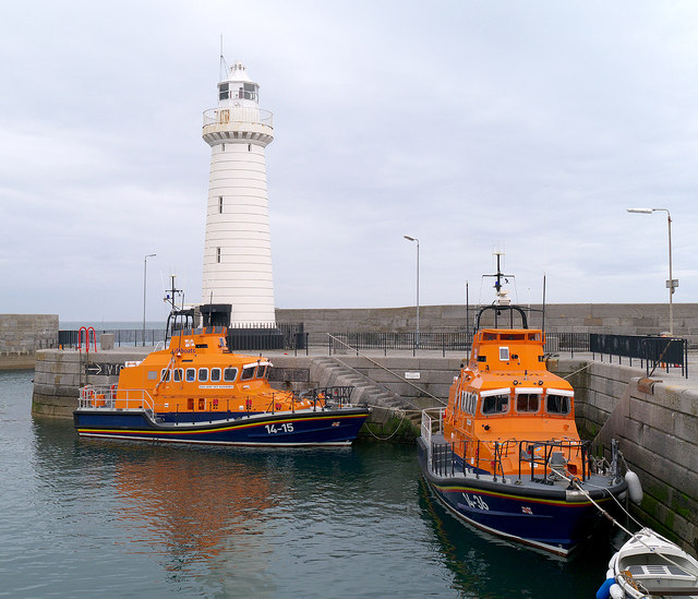 Two lifeboats at Donaghadee