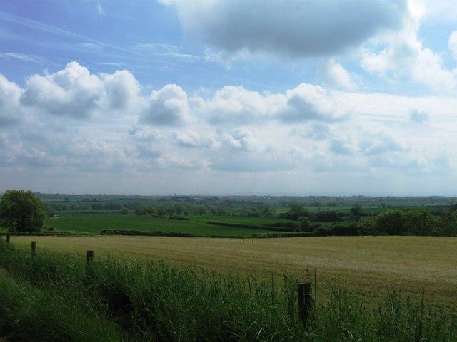 Fields south of Elstob Hill Farm