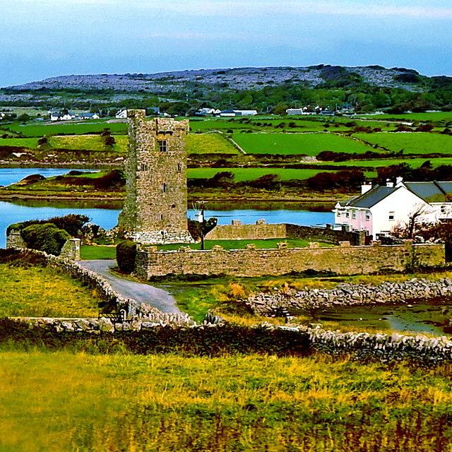 County Clare - Tower House off N67 near Black Head or Ballyvaghan Bay