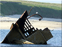 ND4798 : Bow section of the SS Reginald in Weddell Sound by John Lucas