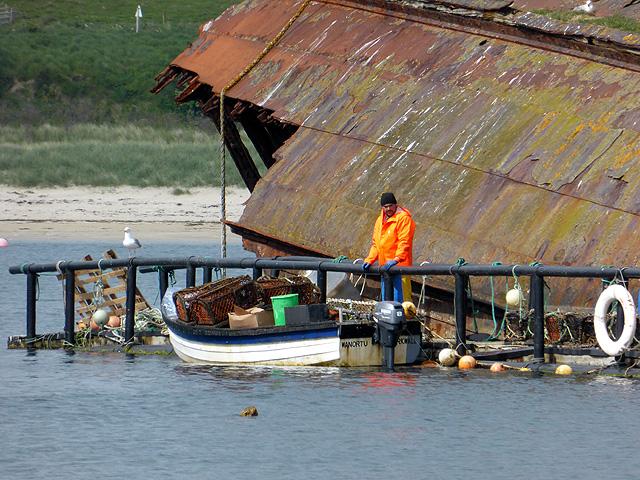 Fisherman's creel platform by the SS Reginald