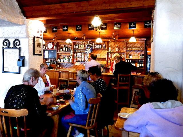 County Clare - Ballyvaghan - Monk's Seafood Pub & Restaurant Interior - Pub