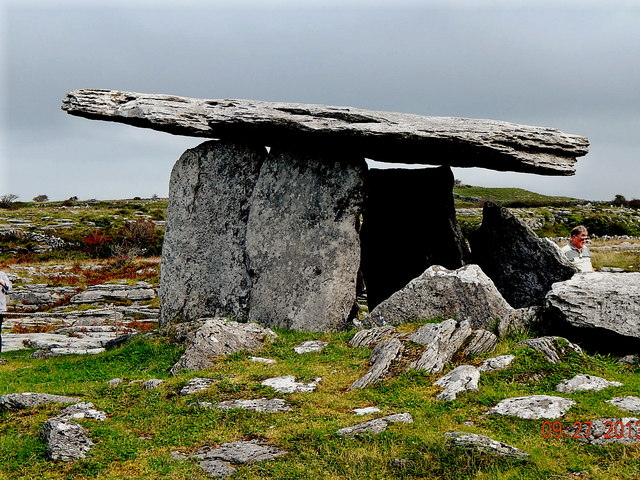 County Clare - R480 - Poulnabrone Dolmen (3500 BC) - View to Southeast