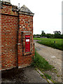 TL8646 : Long Melford Church Victorian Postbox by Adrian Cable