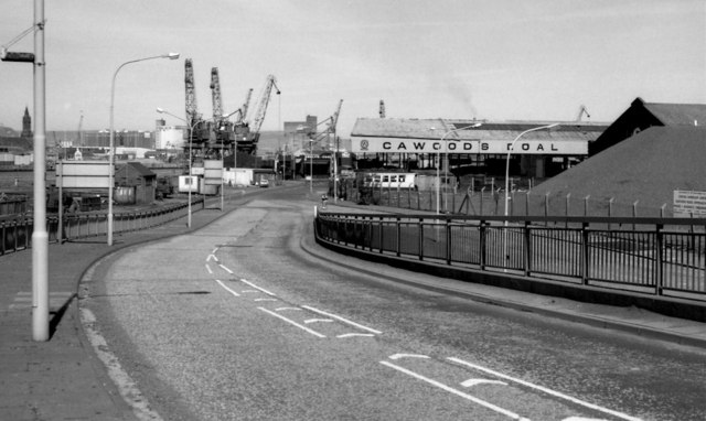 Station Street/Bridge End flyover, Belfast (April 1991)