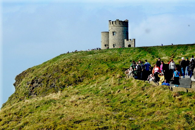 County Clare - R478 - Cliffs of Moher - O'Briens Tower & Walkway Steps