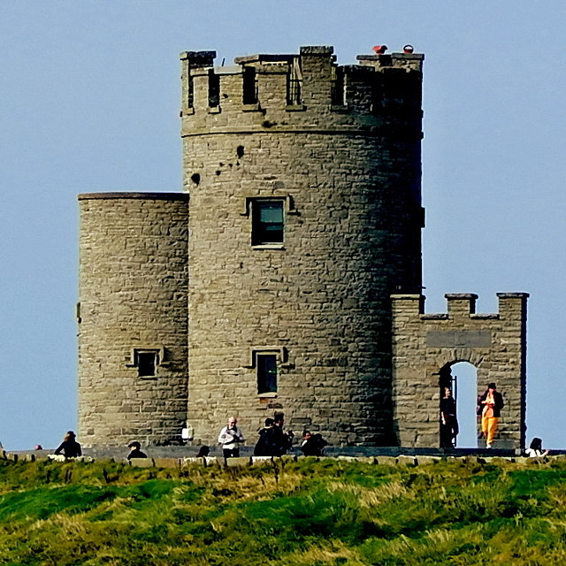 County Clare - R478 - Cliffs of Moher - Closeup of O'Brien's Tower
