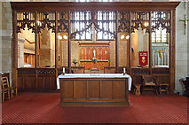 TQ4375 : St Luke, Westmount Road - Screen by John Salmon