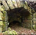 NS4077 : Lime-kiln ruin: detail by Lairich Rig