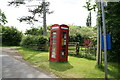 SO9834 : A defibrillator telephone box, Great Washbourne by Ian S