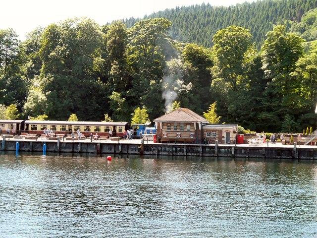 Steam train at Lakeside