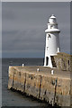 NJ7064 : Macduff Harbour Lighthouse by Walter Baxter
