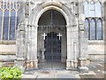 SJ9498 : South Doorway, Ashton Parish Church by David Dixon