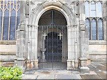 SJ9498 : South Doorway, Ashton Parish Church by David Dixon