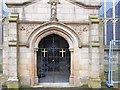 SJ9499 : North Doorway, Ashton Parish Church by David Dixon