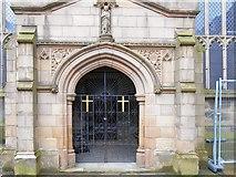 SJ9499 : North Doorway, Ashton Parish Church by David Dixon